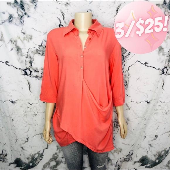 💖3/$25💖 Zokai Gathered Draped Button Up Shirt